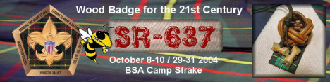 Wood Badge Course SR637 Legacy Web Page